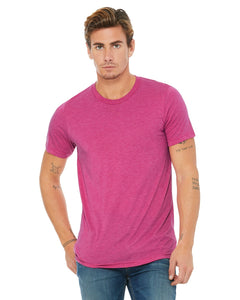 bella + canvas unisex triblend short sleeve t-shirt 3413c berry triblend