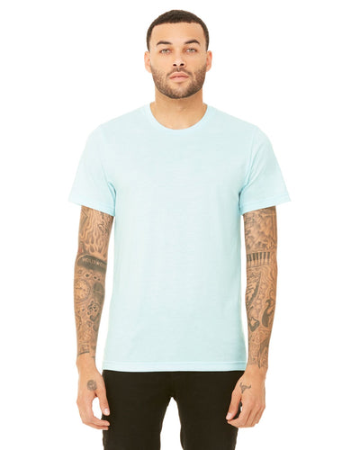 bella + canvas unisex triblend short sleeve t-shirt 3413c ice blue triblnd