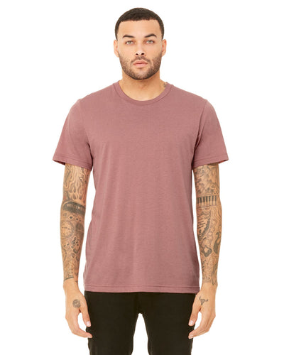 bella + canvas unisex triblend short sleeve t-shirt 3413c mauve triblend