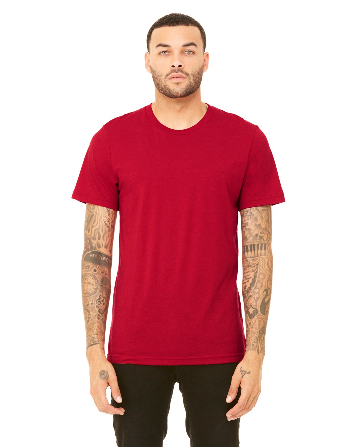 15cf8e95 Bella + Canvas Unisex Triblend Short-Sleeve T-Shirt in Solid Red Tribln,  add a custom design Backpacks Bags   Lead Apparel