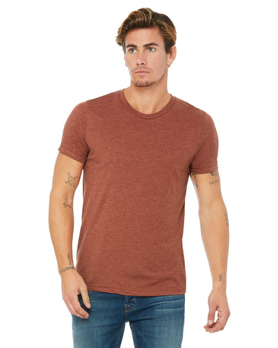 bella + canvas unisex triblend short sleeve t-shirt 3413c clay triblend