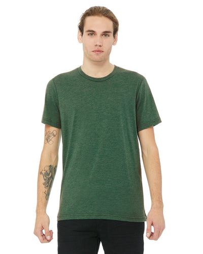 bella + canvas unisex triblend short sleeve t-shirt 3413c grass grn trblnd