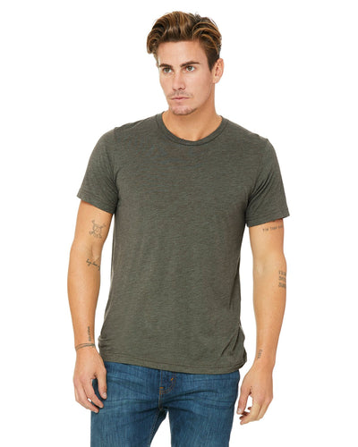 bella + canvas unisex triblend short sleeve t-shirt 3413c mltry grn trblnd