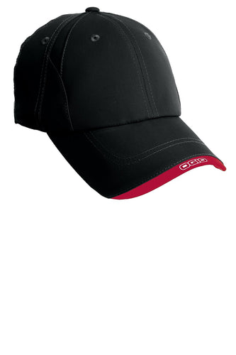 ogio x over cap og600 blacktop chili red