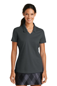 nike ladies dri fit micro pique polo anthracite