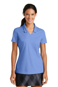 nike ladies dri fit micro pique polo valor blue