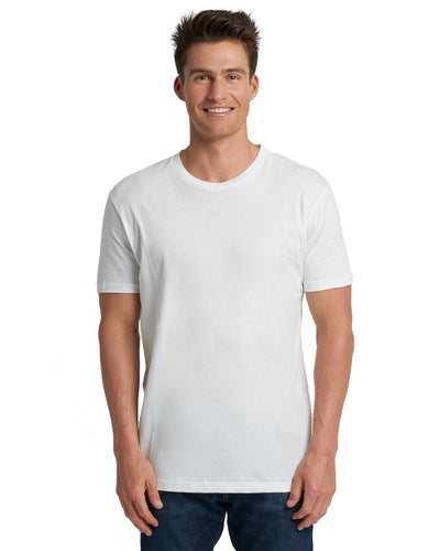 Next Level Mens Cotton Crew 3600 White