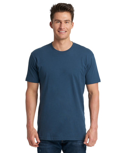 Next Level Mens Cotton Crew 3600 Indigo