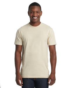 Next Level Mens Cotton Crew 3600 Cream