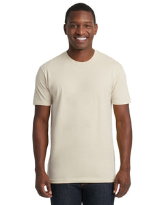 Next Level Mens Cotton Crew 3600 Sand