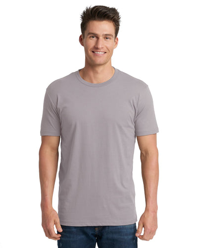 Next Level Mens Cotton Crew 3600 Light Gray