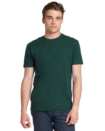 Next Level Mens Cotton Crew 3600 Forest Green