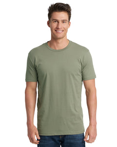 Next Level Mens Cotton Crew 3600 Light Olive