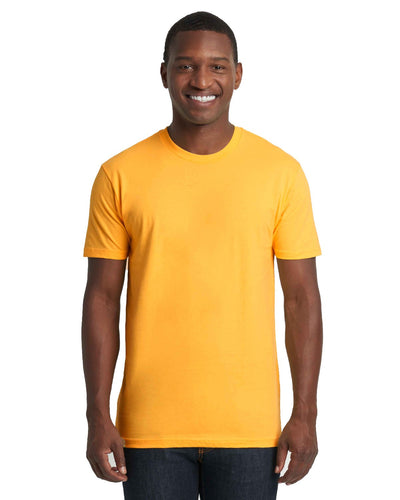Next Level Mens Cotton Crew 3600 Gold