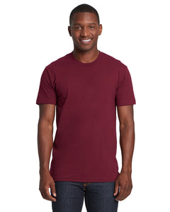 Next Level Mens Cotton Crew 3600 Maroon