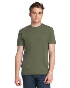 Next Level Mens Cotton Crew 3600 Military Green