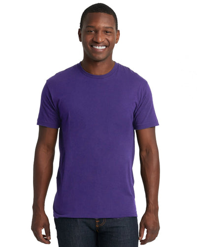 Next Level Mens Cotton Crew 3600 Purple Rush