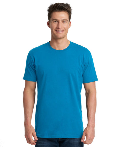 Next Level Mens Cotton Crew 3600 Turquoise