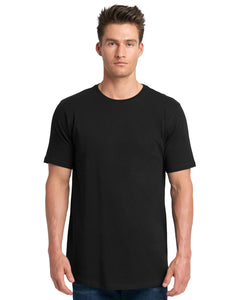 Next Level Mens Cotton Long Body Crew 3602 Black