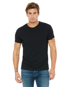 bella + canvas unisex poly-cotton short sleeve t-shirt 3650 black