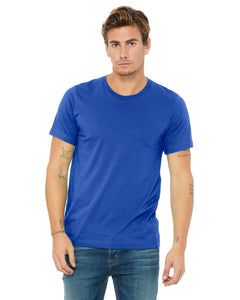 bella + canvas unisex poly-cotton short sleeve t-shirt 3650 true royal