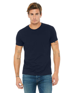 bella + canvas unisex poly-cotton short sleeve t-shirt 3650 navy