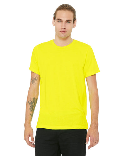 bella + canvas unisex poly-cotton short sleeve t-shirt 3650 neon yellow