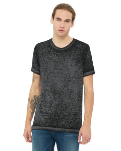 bella + canvas unisex poly-cotton short sleeve t-shirt 3650 blk acid wash