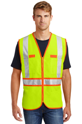 CornerStone Safety Yellow/Safety Orange CSV407 embroidered team jackets