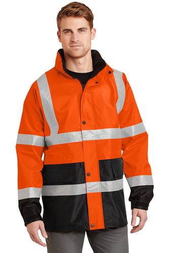CornerStone Safety Orange/ Black CSJ24 embroidered team jackets