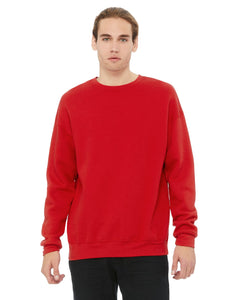 Bella + Canvas Red 3945 sweatshirts with company logo