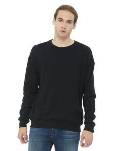 Bella + Canvas Black 3945 sweatshirts with company logo