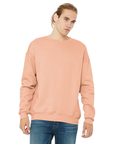 Bella + Canvas Peach 3945 sweatshirts with logo embroidery