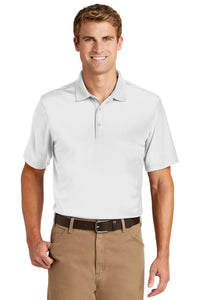 CornerStone White CS412 company polo shirts embroidered