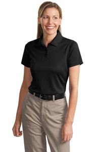 CornerStone Black CS413 polo shirts with company logo