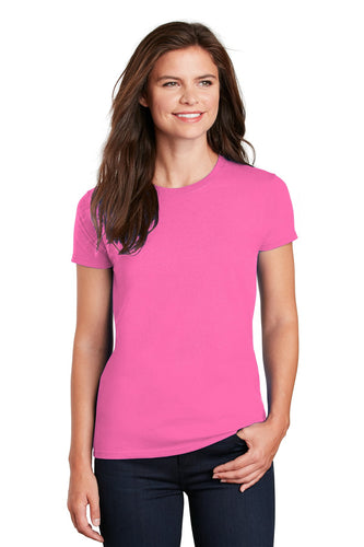 gildan ladies ultra cotton t shirt 2000l safety pink