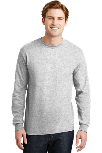gildan dryblend cotton poly long sleeve t shirt 8400 ash grey