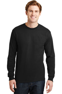 gildan dryblend cotton poly long sleeve t shirt 8400 black