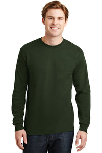 gildan dryblend cotton poly long sleeve t shirt 8400 forest green