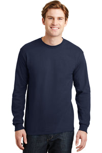 gildan dryblend cotton poly long sleeve t shirt 8400 navy