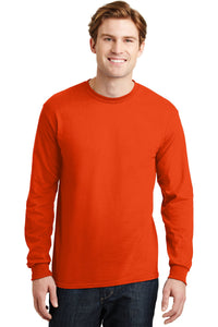 gildan dryblend cotton poly long sleeve t shirt 8400 orange