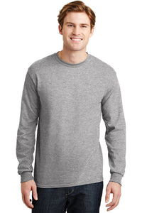 gildan dryblend cotton poly long sleeve t shirt 8400 sport grey