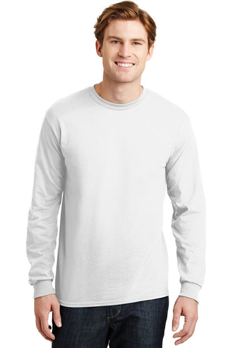 gildan dryblend cotton poly long sleeve t shirt 8400 white