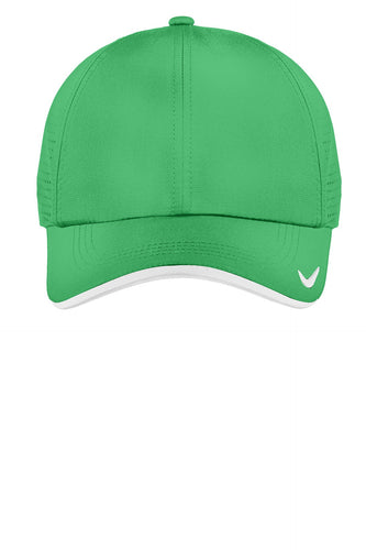 nike dri-fit swoosh perforated cap 429467 lucky green