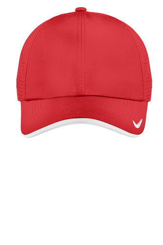 nike dri-fit swoosh perforated cap 429467 university red