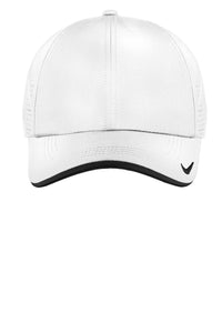 nike dri-fit swoosh perforated cap 429467 white