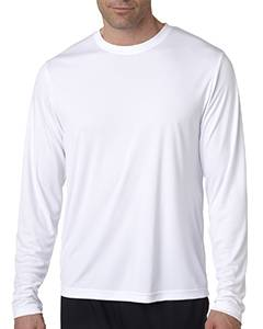 Hanes Men's Cool DRI  with FreshIQ Long Sleeve Performance T-Shirt 482L WHITE
