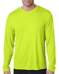 Hanes Men's Cool DRI with FreshIQ Long Sleeve Performance T-Shirt 482L SAFETY GREEN
