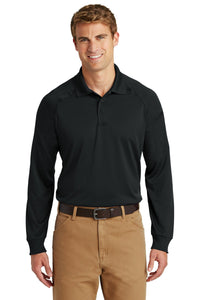 CornerStone Black CS410LS custom business polo shirts