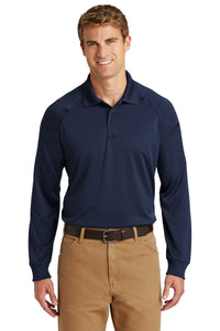 CornerStone Dark Navy CS410LS custom business polo shirts